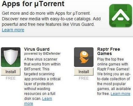 uTorrent libera su tienda de aplicaciones - apps-ut