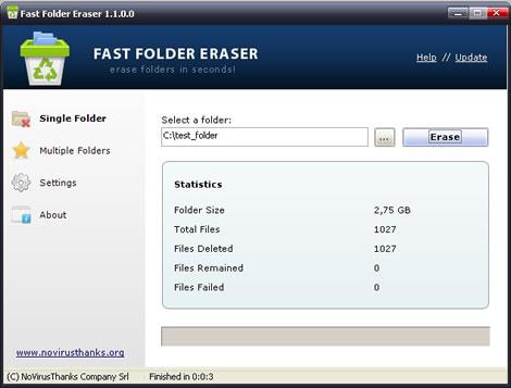 Borrar carpetas rapido con Fast Folder Eraser - borrar-carpetas