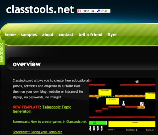 Classtools.net, un sitio para crear juegos educativos - class