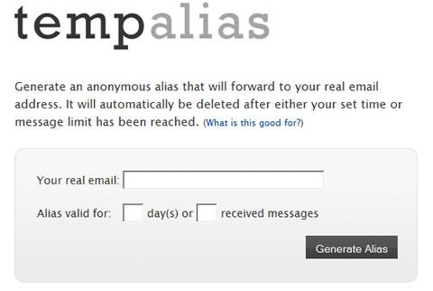 Correos temporales en TempAlias - correos-temporales