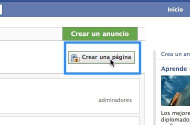 crear paginas facebook desde tu cuenta 2 Crear pagina en facebook
