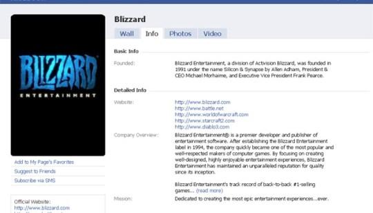 Blizzard integra sus juegos a Facebook - facebook-blizzard