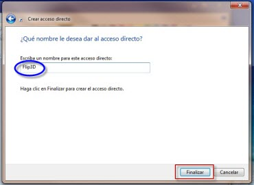 flip3d 2 Como crear el acceso directo de Flip 3D en Windows