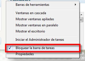 inicio rapido 3 Agrega la barra de Inicio rápido a la barra de tareas en Windows 7