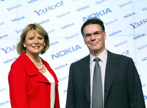 nokia yahoo Nokia y Yahoo! firman alianza