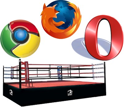 opera vs Opera se mofa de las pruebas de velocidad de Google Chrome