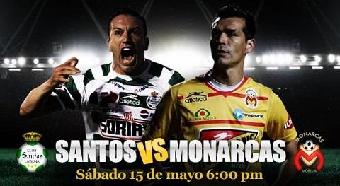 santos monarcas semifinales vuelta Santos vs Morelia en vivo Semifinales Bicentenario 2010 partido de vuelta