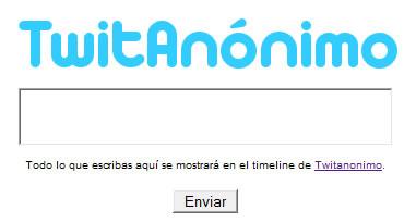Twittear anonimamente con TwitAnónimo - twitanonimo