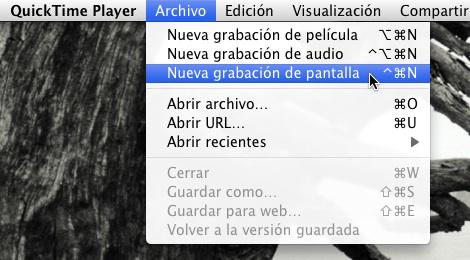 Cómo usar Quicktime Player para grabar tu pantalla - Grabar-pantalla-Quicktime-mac