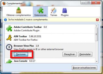 browser view plus Acceder a varios navegadores desde Firefox