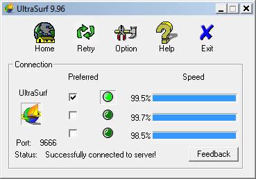 Cambiar de IP con UltraSurf - cambiar-ip