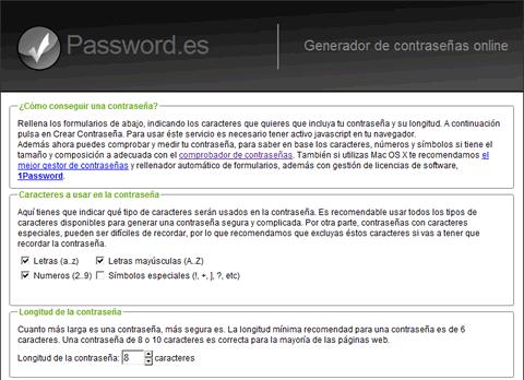 Contraseña segura con Password.es - contrasena-segura