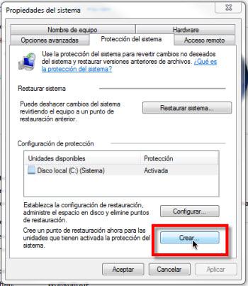 Crear un punto de restauracion en Windows 7 - crear-punto-restauracion