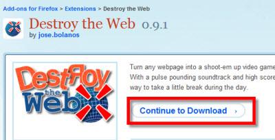 Destroy the Web, juega con Firefox - destroy-the-web