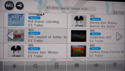 e3 2010 canal nintedo Videos del E3 disponibles en Canal Nintendo Wii