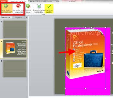Desaparecer fondo de imágenes en Office 2010 - editar-fondo-imagenes-office