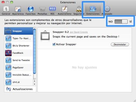 extensiones safari 5 3 Cómo activar extensiones de Safari 5