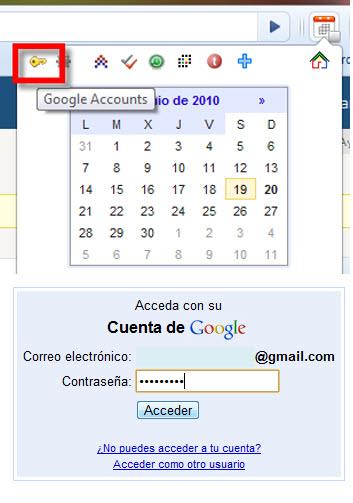 google accounts Como Integrar Google Calendar en Chrome