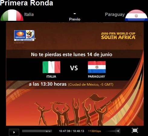 Italia vs Paraguay en vivo - italia-paraguay-internet