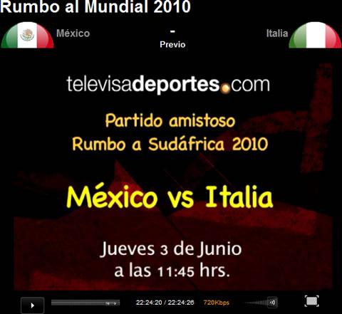 mexico italia online Mexico vs Italia en vivo
