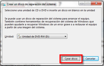 Crear un disco de reparación de Sistema de Windows 7 - reparacion-de-sistema