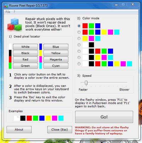 reparar pixeles Reparar pixeles muertos con Rizone Pixel Repair