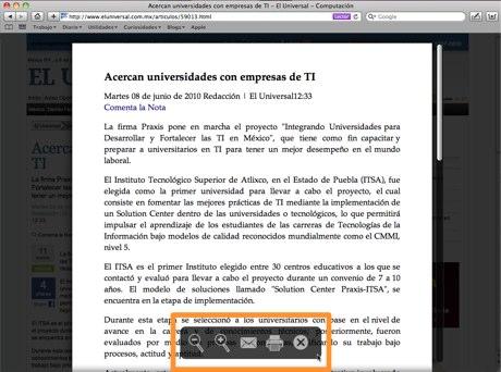 safari 5 lector reader 2 Como activar función Lector en Safari 5