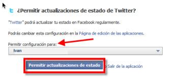 seleccionar perfil facebook Como vincular tu cuenta de Twitter con Facebook