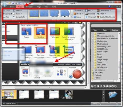 snagit editor imagen Capturas de pantalla en Windows con Snagit