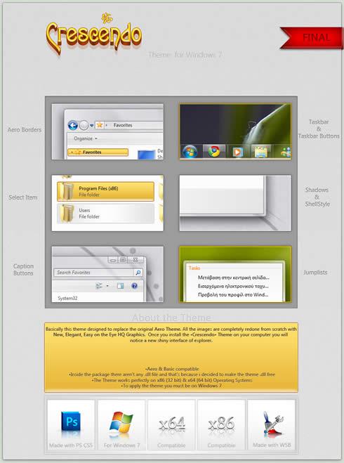 temas windows 7 gratis Temas windows 7, Crescendo