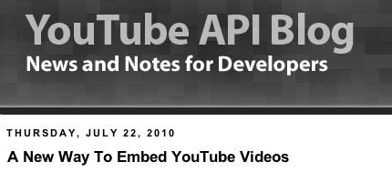 YouTube ofrece una nueva forma de insertar videos - YouTube-nueav-forma-de-insertar-videos