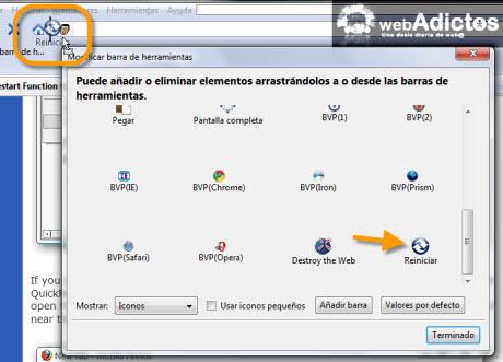Añadir botón de Reinicio Rápido en Firefox - agregar-boton-reinicio-rapido-firefox