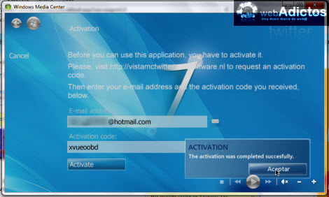 Revisa tu Twitter desde Windows Media Center - codigo-activacion-twitter
