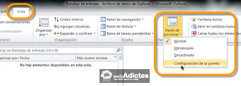 configurar outlook social connee1 Revisa tu Facebook desde Outlook 2010