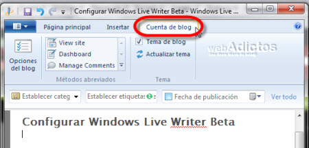 Configurar Windows Live Writer Beta - cuenta-de-blog-windows-live-writer1