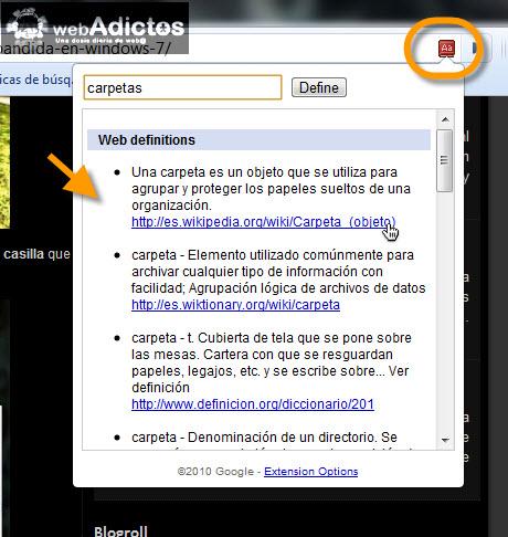 Agregar diccionario de Google en Chrome - definiciones-en-internet