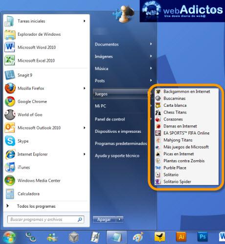 Desactivar juegos en Windows 7 - desactivar-juegos-windows-7