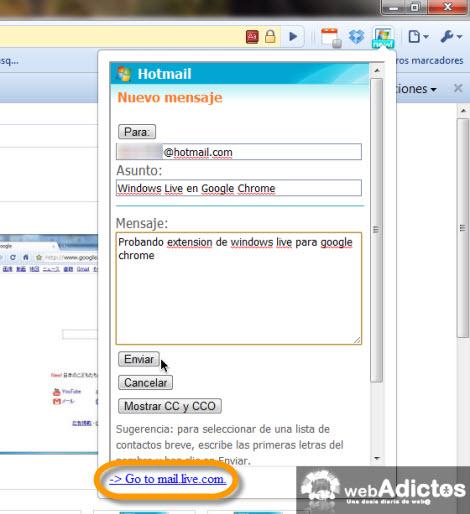 Checar correo hotmail desde Google Chrome - escribir-correo-desde-chrome