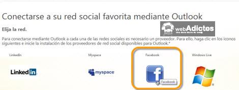 facebook en outlook Revisa tu Facebook desde Outlook 2010