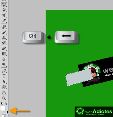 Crear una cinta adhesiva en Photoshop - fill-selection-photoshop