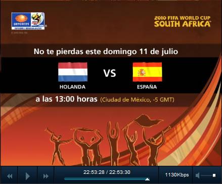 España vs Holanda en vivo, Final del mundial - final-mundial-online