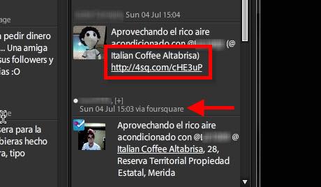Agregar nueva localización en Foursquare - forsquare-en-tweetdeck