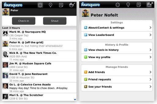 Foursquare 1.9 para BlackBerry disponible para descargar - foursquare_for_blackberry_update