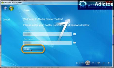 Revisa tu Twitter desde Windows Media Center - ingresar-twitter