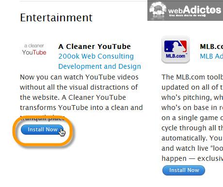Ver videos de YouTube sin distracciones en Safari - instalar-a-cleaner-youtube