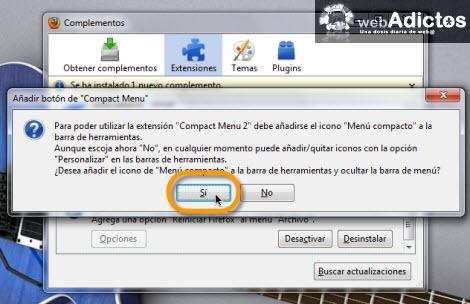 instalar compact menu Compacta tu barra de herramientas en Firefox