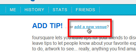nueva localizacion foursquare Agregar nueva localización en Foursquare