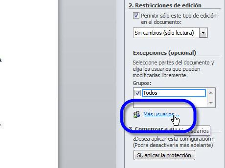 Aumentar la seguridad en tus documentos de Office 2010 - permitir-usuarios