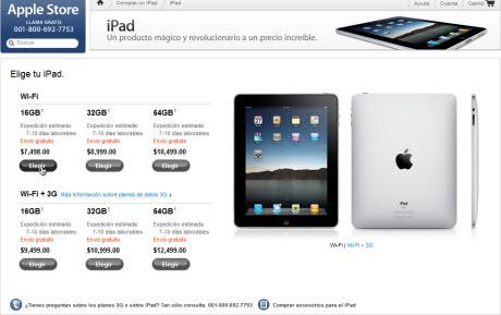 precios ipad mexico iPad ya disponible en Apple Store en México
