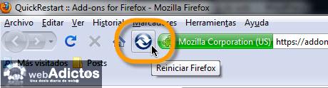 Añadir botón de Reinicio Rápido en Firefox - reinicio-rapido-firefox1